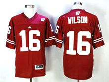 Mens Ncaa Nfl Wisconsin Badgers #16 Wilson Red Jersey