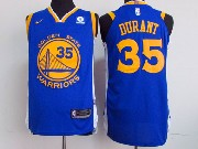 Mens Nba Golden State Warriors #35 Kevin Durant Blue Nike Jersey