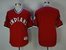 Mens Mlb Cleveland Indians Blank Red Pullover Jersey