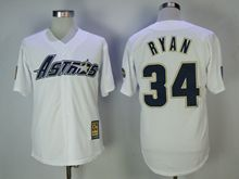 Mens Majestic Houston Astros #34 Nolan Ryan White Throwback Cool Base Jersey