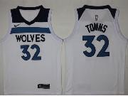 Mens Nba Minnesota Timberwolves #32 Karl-anthony Towns White Nike Jersey