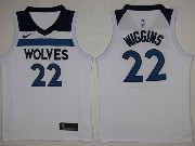 Mens Nba Minnesota Timberwolves #22 Andrew Wiggins White Nike Jersey