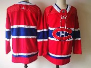 Mens Montreal Canadiens Balnk Red Home Premier Adidas Jersey