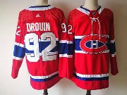 Mens Montreal Canadiens #92 Jonathan Drouin Red Home Premier Adidas Jersey