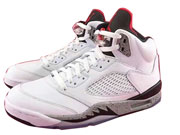 Mens Air Jordan 5 Basketball Shoes White Colour