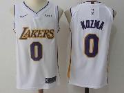 Mens Nba Los Angeles Lakers #0 Kyle Kuzma White Nike Jersey