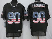 Mens Nfl Dallas Cowboys #90 Demarcus Lawrence Black Usa Flag Fashion Elite Jersey