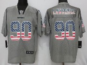 Mens Nfl Dallas Cowboys #90 Demarcus Lawrence Gray Usa Flag Fashion Elite Jersey