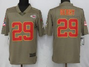 Mens Nfl Kansas City Chiefs #29 Eric Berry Green Olive Salute To Service Limited Nike Jersey