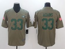 Mens New York Jets #33 Jamal Adams Green Olive Salute To Service Limited Nike Jersey