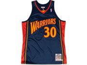 Mens Nba Golden State Warriors #30 Stephen Curry Dark Blue Adidas Hardwood Classics Jersey