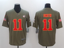 Mens Nfl Kansas City Chiefs #11 Alex Smith Green Olive Salute To Service Limited Nike Jersey