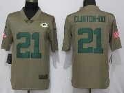 Mens Women Youth Nfl Green Bay Packers #21 Haha Clinton-dix Green Olive Salute To Service Limited Nike Jersey