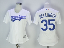 Women  Mlb Los Angeles Dodgers #34 Fernando Valenzuela White Jersey