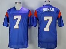 Mens Nfl Movie Mountain State #7 Moran Blue Jersey