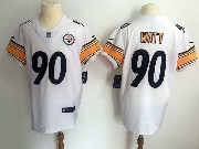 Mens Pittsburgh Steelers #90 T. J. Watt White Vapor Untouchable Elite Jersey