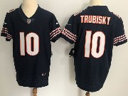 Mens Nfl Chicago Bears #10 Mitchell Trubisky Blue Vapor Untouchable Elite Jersey