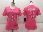 Women Nfl Houston Texans #4 Deshaun Watson Pink Vapor Untouchable Limited Jersey