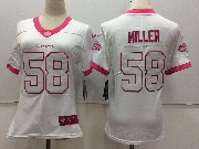 Women Nfl Denver Broncos #58 Von Miller White Vapor Untouchable Limited Jersey