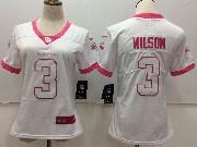 Women Nfl Seattle Seahawks #3 Russell Wilson White Vapor Untouchable Limited Jersey
