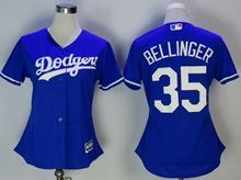 Women Mlb Los Angeles Dodgers #35 Cody Bellinger Blue Jersey