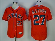 Mens Mlb Houston Astros #27 Jose Altuve Orange Cool Basejersey