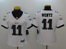 Women Philadelphia Eagles #11 Carson Wentz White Vapor Untouchable Limited Jersey