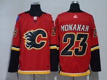 Mens Nhl Calgary Flames #23 Sean Monahan Red Adidas Jersey