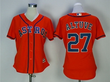 Women Mens Mlb Houston Astros #27 Jose Altuve Orange Cool Base Jersey