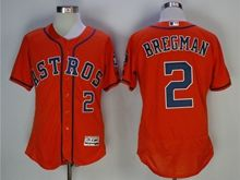 Mens Mlb Houston Astros #2 Alex Bregman Orange Jersey