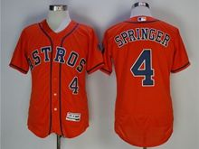 Mens Mlb Houston Astros #4 George Springer Orange Jersey