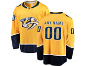 Mens Nhl Nashville Predators Custom Made Gold Adidas Jersey