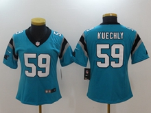 Women Nfl Carolina Panthers #59 Luke Kuechly Blue Vapor Untouchable Limited Player Jersey
