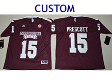 Mens Ncaa Nfl Mississippi State Bulldogs Custom Made Maroon Jersey