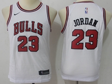 Youth Nba Chicago Bulls #23 Michael Jordan Bulls White Swingman Nike Jersey