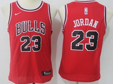 Youth Nba Chicago Bulls #23 Michael Jordan Bulls Red Swingman Nike Jersey