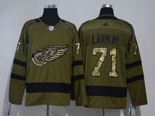 Mens Nhl Detroit Red Wings #71 Dylan Larkin Green Adidas Hockey Jersey