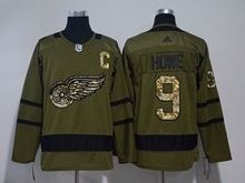 Mens Nhl Detroit Red Wings ##9 Howe Green Adidas Hockey Jersey
