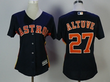 Women Mens Mlb Houston Astros #27 Jose Altuve White Jersey