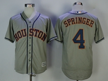 Mens Mlb Houston Astros #4 George Springer Gray Cool Base Jersey