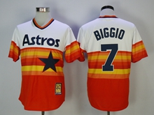Mens Mlb Houston Astros #7 Craig Biggio Iridescent Throwbacks Pullover Jersey