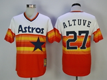Mens Mlb Houston Astros #27 Jose Altuve Iridescent Throwbacks Pullover Jersey
