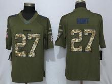 Mens Nfl Kansas City Chiefs #27 Kareem Hunt Green Salute To Service Limited Jersey