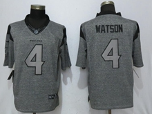 Mens Nfl Houston Texans #4 Deshaun Watson Gray Stitched Gridiron Limited Jersey