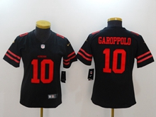 Women San Francisco 49ers #10 Jimmy Garoppolo Black Vapor Untouchable Limited Jersey