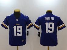 Youth Nfl Minnesota Vikings #19 Adam Thielen Purple Vapor Untouchable Limited Player Jersey