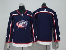 Youth Women Nhl Columbus Blue Jackets Blank Blue Adidas Jersey