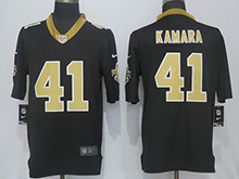 Mens Nfl New Orleans Saints #41 Alvin Kamara Black Vapor Untouchable Limited Jersey