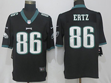 Mens Nfl Philadelphia Eagles #86 Zach Ertz Black Vapor Untouchable Limited Jersey