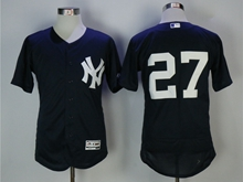 Mens Mlb New York Yankees #27 Giancarlo Stanton Blue Flex Base Jersey
